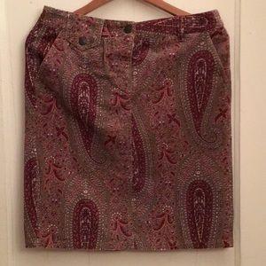 Pretty paisley skirt